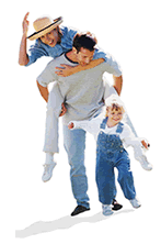 Picture of happy family that has term life insurance